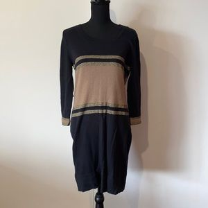 French Connection Womens Shirt Dress Longsleeves Knit Bodycon AU 12 Pre Owned EC